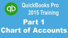 QuickBooks Pro 2015 Tutorial: Setting Up the Chart of Accounts - Part 1