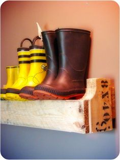 For Garage  @Katie McCallum- this is fun boot holder too though I still really like the other one.