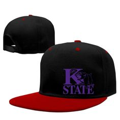 Hotboy19 Kansas State University Hip Hop Sun Protection Cap Adjustable Flat Bill Cap Red -- Awesome products selected by Anna Churchill