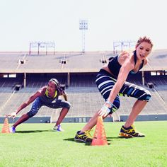 Take your workout outdoors with this fat-blasting bootcamp-style routine. - Shape.com