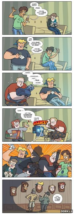 Funny pictures, humor memes, comics for your daily dose. Dorkly Comics, King's Quest, Jagodibuja Comics, Dangerous Games, Online Comics, Video Game Memes, Video Games, Only Play, Gaming Memes