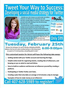 Trying to step your Twitter Game up? Here is a great seminar to attend by my friend Rachelle Lucas.