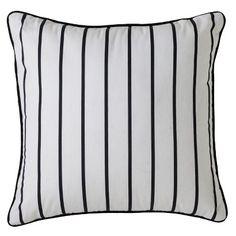Room Essentials™ Striped Toss Pillow - Black/White (18x18