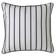 Room Essentials™ Striped Toss Pillow - Black/White (18x18