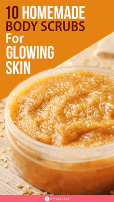 Sugar Scrub Diy Discover 10 Simple Homemade Body Scrubs For Gorgeous Glowing Skin No matter how dedicated you are your skin will sometimes need a little treat to remain at its attractive best. This is where homemade body scrubs come in. Best Body Scrub, Natural Body Scrub, Body Scrub Recipe, Diy Body Scrub, Coffee Body Scrub Diy, Salt Scrub Recipe, Coffee Body Scrubs, Best Scrub For Face, Natural Skin Care