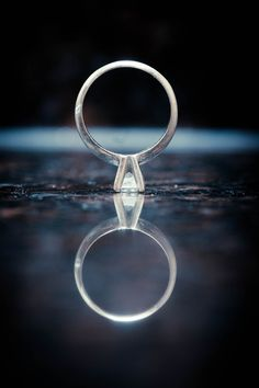 Wedding ring reflection