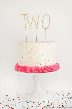 Adorable Sprinkle Cake for Children's Birthday Party