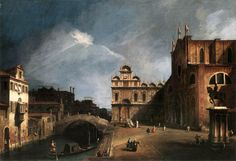 Giovanni Antonio Canal better known as Canaletto, was a Venetian painter famous for his landscapes, or vedute, of Venice