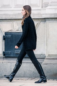 Look for a lot of over-the-knee boots this season.
