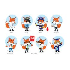 Fox Character Design Contest by giorgia.isacchi