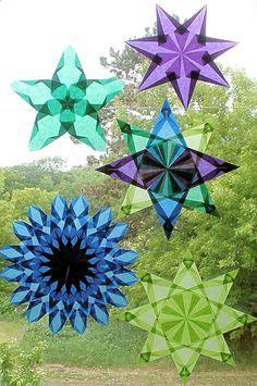Waldorf Window Star me n fefe working on these this week