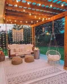 Small Backyard Design, Outdoor Pergola, Small Backyard Landscaping, Outdoor Decor, Backyard Ideas, Patio Ideas, Pergola Swing, Pergola Ideas, Porch Ideas