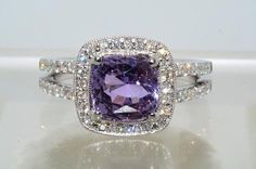 purple Sapphire and Diamond ring by Donna May (no link)