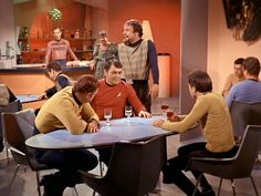 Star Trek The Trouble with Tribbles Prelude to a Bar Fight with Klingons Star Trek Party, Star Trek 4, Star Trek Tv Series, Star Trek 1966, Star Trek Original Series, Star Trek Movies, Sci Fi Tv Shows, Star Trek Universe, Paramount Pictures