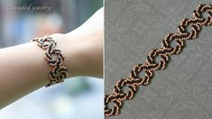 DIY whirlpool bracelet. Easy to make beaded bracelet with seed beads. Je...