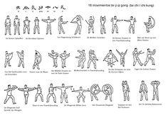 QiGong 18 oefeningen schema Shibashi.
