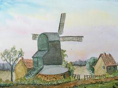 Watercolour Windmill - By Bazza
