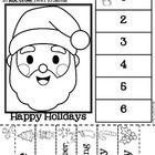 Christmas Kindergarten Math Worksheets (Common Core