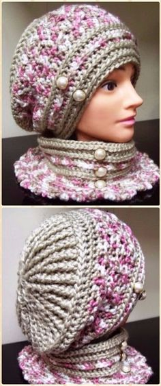 Crochet Robyn's Beret Hat Free Pattern - Crochet Beanie Hat Free Patterns #CrochetBeanie #crochethats