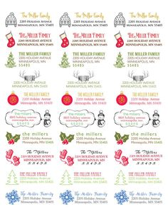 120 Holiday Return Address Labels by Spilling Beans