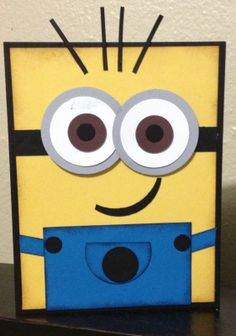 Minion birthday card 1  Gahhh, how cute is this?!