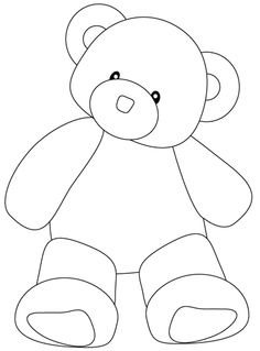 16 best teddy bear drawing images in 2019 Easy Animal Drawings, Cute Bear Drawings, Simple Line Drawings, Art Drawings For Kids, Drawing For Kids, Cartoon Drawings, Easy Drawings, Learn Drawing, Best Teddy Bear