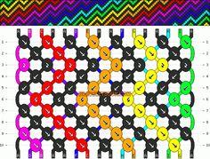 Normal Friendship Bracelet Pattern #2619 - BraceletBook.com