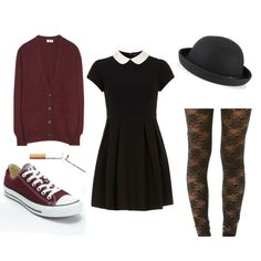 Minus the cigarette this outfit is cute