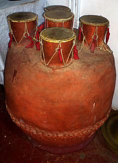 #‎JewelArts‬ ‪#‎Handicrafts‬ ‪#‎Arts‬ The ‪#‎Indian‬ ‪#‎Instrument‬ - Panchamukha Vadyam.  The Panchamukha Vadyam is a drum from India. It is a metal drum with five faces, named after the faces of Shiva. Sadyojatam, Isanam, Tatpurusham, Aghoram and Vamadevam. The diameter of the central face is at a slightly larger than those of the peripheral faces. The instrument is played with both hands.