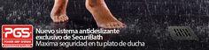 Sistema antideslizante de SecuriBath. Seguridad en tu plato de ducha.