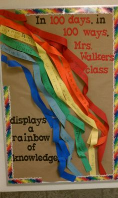 Jan. 2013 Mrs. Walker's 1st grade 100 days of school bulletin board.