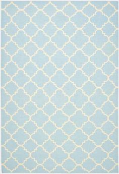 Dhurries DHU554B Light Blue Ivory by Safavieh