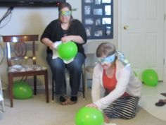 Crazy Baby Shower Games | In This Game You Had To Diaper The U0027baby Balloon