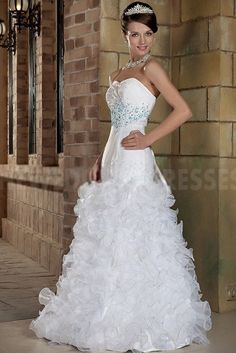 White Organza Strapless Prom Dresses - Order Link: http://www.theweddingdresses.com/white-organza-strapless-prom-dresses-twdn4939.html - Embellishments: Beading; Length: Floor Length; Fabric: Organza; Waist: Natural - Price: 144.63USD
