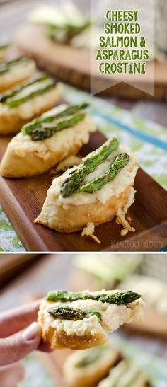 Smoked Salmon, Asparagus & White Cheddar Crostini - Krafted Koch - An easy and sophisticated appetizer recipe that your guests will love!
