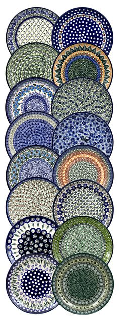 Plates from ELIMAshop.cz . Handmade Polish Pottery from Boleslawiec . Bunzlauer keramik . ceramics . stoneware . ELIMAshop.cz , shipping worlwide . Artystyczna .