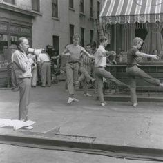 Jerome Robbins and dancers rehearsing for the filming of West Side Story.  #FilmsYouLove #VideoDanceTV #ballet #dance