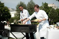 Barack Obama and Bobby Flay