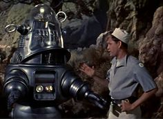"""Forbidden Planet - the daddy of them all """"Robby the Robot"""" Great Sci Fi Movies, Scary Movies, Fantasy Movies, Sci Fi Fantasy, Fantasy Images, Fiction Movies, Science Fiction, Planet Movie, Robby The Robot"""