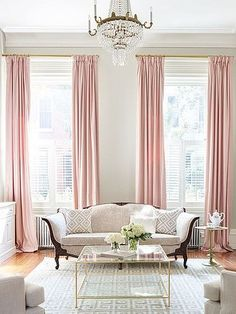 pair of pedal pink curtains linen blend pink drapery custom curtains extra long extra wide nursery room curtains Living Room Pink Curtains, Curtains Living, Custom Curtains, Tall Curtains, Fancy Curtains, Curtains Kohls, Office Curtains, Neutral Curtains, Living Room Blinds
