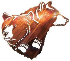 "Lazart Bear Faces 20"" Wall Art"