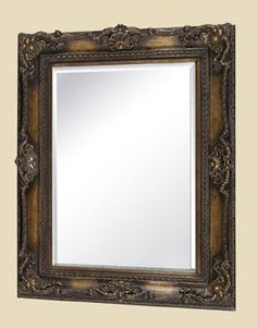 Lucinda Large Black & Gold Mirror, Gail's Accents, Available at HomeGalleryStores.com