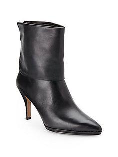 Adrienne Vittadini - Jael Leather Cuffed Ankle Boots