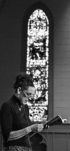 Nadia Bolz-Weber, Lutheran Minister. She's a hoot and I, for one, am glad she is a Lutheran. Thank, God.