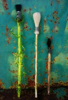 Homemade paint brushes - Horse hair