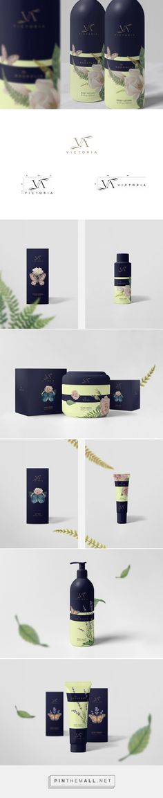 Victoria Cosmetics packaging on Behance curated by Packaging Diva PD. Victoria is a luxury cosmetics range which capture the classic scents of Magnolia, Lavender and Rose.