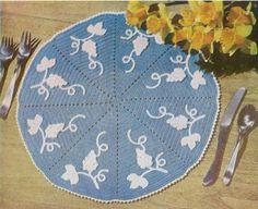 Maggie's Crochet · Grape Mat Free Pattern