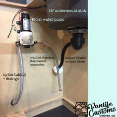 Vanlife Customs Camper Van DIY Sink and Water System — Custom Van Builder