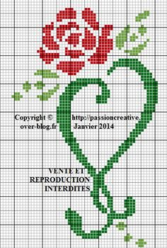 Cross-stitch Rose Heart ... no color chart available, just use pattern chart as your color guide.. or choose your own colors... http://ahp.li/1706b8b5050006a330cf.jpg