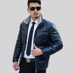 Free shipping!2016 Selling Men Leather Jacket Black Leather Spring Fashion Leather Jacket Brand QualityMan Wind Warm Locomotive